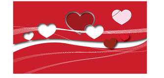 Paper red heart Vector Royalty Free Stock Photography