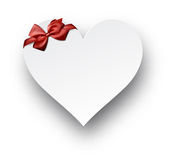 Paper red heart. Royalty Free Stock Photography