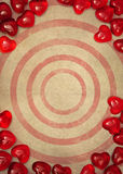 Paper and red hearts Royalty Free Stock Photos