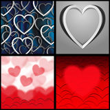 Paper and red hearts Royalty Free Stock Images