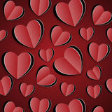 Paper red hearts Stock Photos