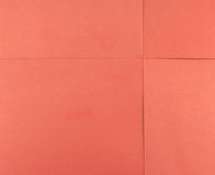 Paper red square sheet Royalty Free Stock Photos