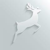 Paper reindeer Stock Image