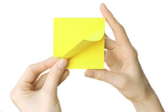 Paper reminder Royalty Free Stock Images