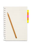 Paper and reminder note with pencil Royalty Free Stock Image