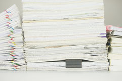 Paper of report and paperwork with books Royalty Free Stock Photography