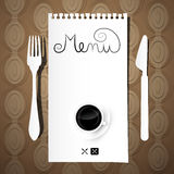 Paper Restaurant Menu Template Stock Photography