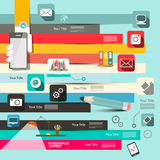 Paper Retro Flat Design Vector Infographic Stock Image