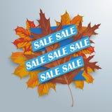 Paper Ribbon Autumn Foliage Stock Image