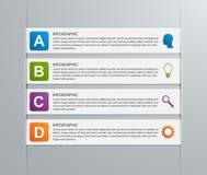 Paper ribbon infographics design template. Stock Photos