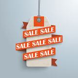 Paper Ribbon Price Sticker Sale Stock Images