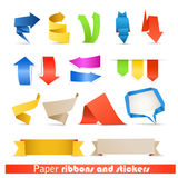 Paper ribbons and arrows Stock Photography