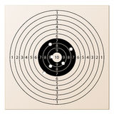 Paper rifle target with bullet holes. Illustration for the web Royalty Free Stock Photos