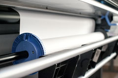 Paper rill mechanism of professional printer Royalty Free Stock Photography