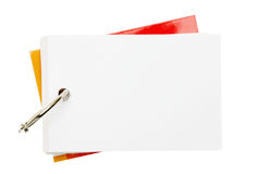 Paper and ring. On a white background Stock Photos
