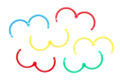 Paper rings Royalty Free Stock Images
