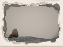 Paper Rive. Torn paper frame for writing a book Royalty Free Stock Photos