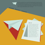 Paper Rocket Create for business template. Concept Royalty Free Stock Photo