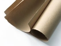 Paper roll. On white background Stock Photos