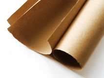 Paper roll. On white background Royalty Free Stock Image