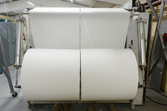 Paper roll. Big paper roll in paper production factory stock image