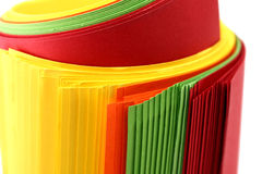 Paper roll. Roll of brightly coloured paper royalty free stock photos