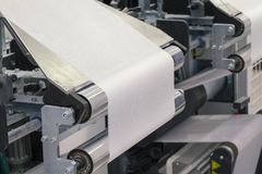 Paper roll machine royalty free stock images
