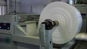 Paper roll for a printing press stock video