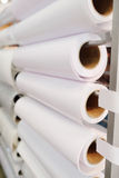 Paper roll in a printshop Stock Image