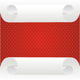 Paper roll and red frame Stock Image