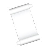 Paper roll white color  Stock Photography