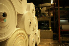Paper rolled. Tissue Paper rolled store in factory Stock Image