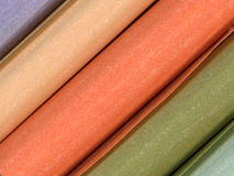 Paper rolls. Close-up of beautiful colored paper rolls Stock Photos