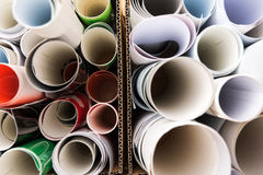 Paper rolls from above Royalty Free Stock Photography