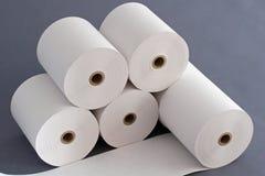 Paper  Rolls for Cash Register. Compositiin of Paper Rolls for Cash Register in the Business area Stock Images