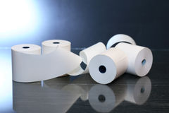 Paper Rolls On Dark Royalty Free Stock Image