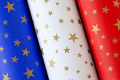 Paper Rolls French Flag Stock Photo
