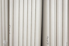 Paper rolls raw material. Paper rolls in paper production factory stock photography