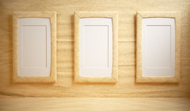 Paper room with blank frame Stock Photo