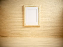 Paper room with blank frame Stock Images
