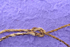 Paper with rope border Stock Images