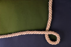 Paper with rope border Stock Photography