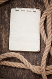 Paper and rope Royalty Free Stock Images