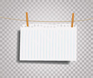 Paper on rope Royalty Free Stock Images