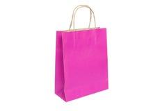 paper rosa klar shopping för påse Fotografering för Bildbyråer