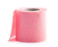 paper rosa rulltoalett Royaltyfria Foton