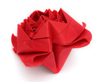 Paper rose. Red paper rose on white Royalty Free Stock Images