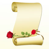 Paper with rose Royalty Free Stock Images