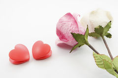 Paper rose and heart Stock Photography
