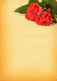 Paper with rose motive Royalty Free Stock Photo